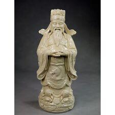 """Große Porzellanfigur """"Gott des Reichtums Chai Shen"""", Porzellan Skulptur, Statue"""