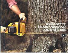 John Deere Chain Saws Log Splitters Sales Brochure 25EV 45EV 65EV 80EV 52 + NEW