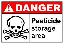 Pesticide Storage Area Danger OSHA / ANSI LABEL DECAL STICKER