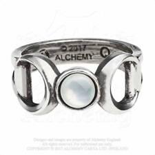Alchemy Gothic Triple Goddess Ring - Goth,Moon,Punk,Metal,Pewter,Jewellery