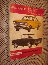 1962 THROUGH 1968 OPEL SHOP MANUAL SERVICE BOOK BUICK