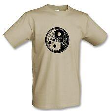 T-Shirt  Ying Yang Skulls  Heavy Metal Gothic Shirt