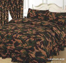 Camouflage vert kaki marron housse de couette / couette ensembles de literie beige armée