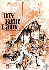 My fair lady Audrey Hepburn vintage movie poster print