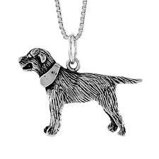 "Sterling Silver Labrador Retriever Dog Pendant / Charm, 18"" Italian Box Chain"