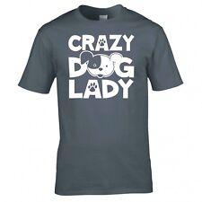 Crazy perro mujer camiseta