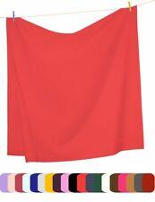 Mezzati Flat Top Sheet Soft Comfortable Brushed Microfiber Bright Color Bedding