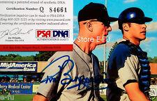 TOM BURGMEIER Signed Burlington Bees Photo 4x6 Auto PSA/DNA Certified Autograph