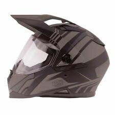 Zox Z-DS10 Stitch Dual Sport Full Face Motorcycle Helmet Matte Dark Silver
