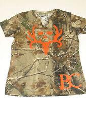 Bone Collector Camo W/ Orange Logo T-Shirt Small M XL  Camouflage  box H