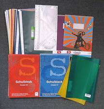 Paquete escolar Carpetas Bloques Sobres Geo-Set Palillo de pegamento