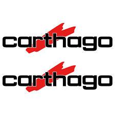 2 x carthago 65cm x 18cm aufkleber sticker wohnmobil camper wohnwagen caravan
