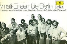 ENSEMBLE AMATI BERLINO BARTOK DIVERTIMENTO STRAVINSKY CONCERTO TESSITORI LP