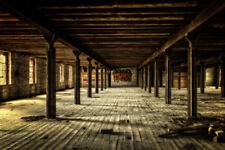 Fototapete Lost Place Fabrikhalle - Kleistertapete oder Selbstklebende Tapete