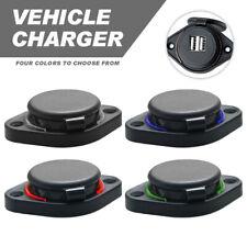12V/24V  3.1A Car Dual Black ABS USB Port Charger Socket Outlet LED Waterproof