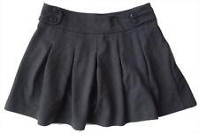 Zara Filles Gris Uniforme Scolaire Mini Jersey Flippy Bouton Jupe 3-14y £ 15.99