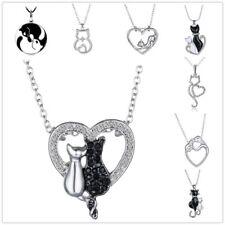 Mother's Day Gift DIY Cute Silver Handmade Crystal Rhinestone Animal Necklace