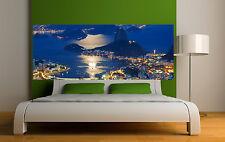 Adesivo testata del letto decorazione da muro vista sul la città ref 3680 5