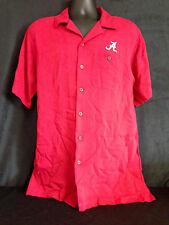 University of Alabama Men's Crimson Short Sleeve Button Down with Script A