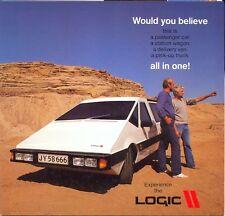 """Lógica-danés """"auto del futuro"""" Original color folleto de ventas"""
