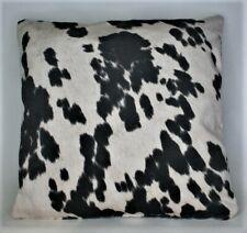 cowhide black brown beige faux fur pony throw sofa pillows western handmade usa