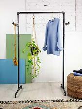 Handmade Urban Industrial Coat Rail Clothing Rack Metal Pipework Garment Storage