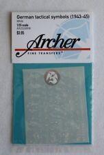 Archer 1/35 German Tactical Symbols Late War (1943-1945) WWII (White) AR35098W