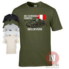 Sherman Firefly tank t-shirt WW2 British D-day war allied vehicle WOT US army