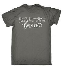 Non cercare di farmi fuori Figura Da Uomo T-shirt Tee Regalo di Natale stranissimo Scuro Divertente