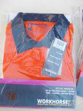 WOMENS HI-VIS WORK SHIRT Orange /Navy sizes 8,10 or 16 Workhorse  FREE POST