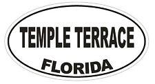 Temple Terrace Florida Oval Bumper Sticker or Helmet Sticker D2712 Decal