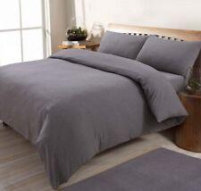 Sleepdown Jersey Melange Burnt Taupe Bedding Set | Pain Dye Duvet Set + Pillo...