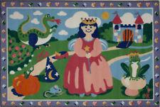 Multi-Color Frogs Fairy Tales Pumpkins Contemporary Area Rug Pictorial OLK-004