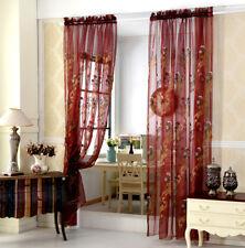 European Sheer Curtain Ruffled Organza Graceful Room Decoration 4 Colors 1 Piece