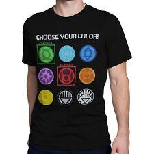 Green Lantern Choose Your Color Men's T-Shirt Black