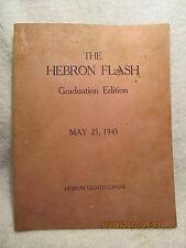 1945 Hebron School Newspaper/Yearbook Evansville IN Includes Roy HALSTON Frowick