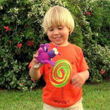 Orange T-shirt with Magnet Fly Bug Toy Lollipop Kids Boys Girls Toddler Sz 2T-9