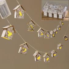 LED Lichterkette mit 8 Häusern Holz 130 cm (831490) Weihnachtsdeko