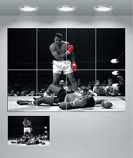 Muhammad Ali Red Gloves Black & White Giant Wall Art Poster Print