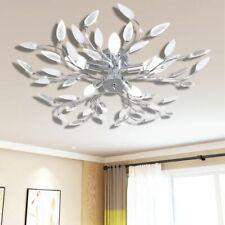 vidaXL Lampada da Soffitto Trasparente Cristalli Acrilico 5 E14 Lampadario