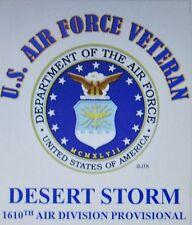 DESERT STORM 1610TH AIR DIVISION PROVISIONAL* U.S.AIR FORCE W/ EMBLEM*SHIRT