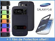"""Etui Housse Coque avec rabat-clapet """"Flip cover"""" view pour Samsung Galaxy S3"""