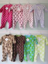 Baby Girls / Boys Fleece Sleepsuit Babygro  (Ages New Born, 0-3, 3-6 & 6-9 Month