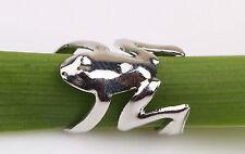 FROG cuff ear clip on Wrap Orecchino argento o oro colore Animale Borsa Regalo Regno Unito FR