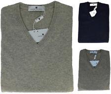 Maglione Maglia Uomo Maniche Lunghe Scollo V Cashmere Pierre Balmain Sweater Men