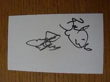 2011/2012 Tarjeta Autografiada Blanco: Blackpool-Thompson, Steve (asistente Gerente