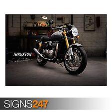TRIUMPH Thruxton R (AC373) BICI POSTER-Foto con stampa poster art A0 a A4