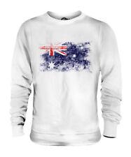 AUSTRALIA DISTRESSED FLAG UNISEX SWEATER TOP AUSTRALIAN SHIRT FOOTBALL JERSEY