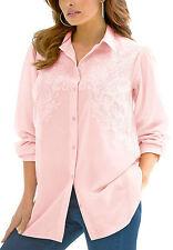 Denim 24/7 PINK Longline Embroidered Shirt