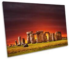 Stonehenge Landmark Sunset Framed SINGLE CANVAS PRINT Wall Art